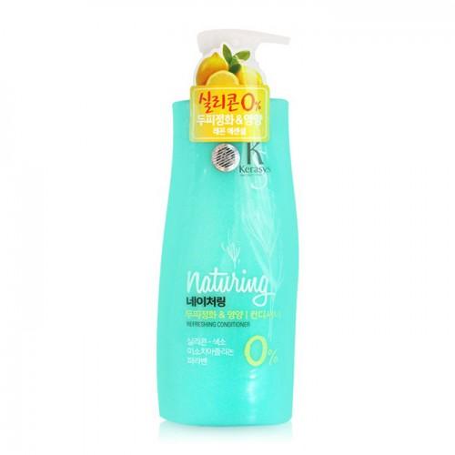 Кондиционер для волос с морскими водорослями и лимонной эссенцией Kerasys Naturing Refreshing Conditioner