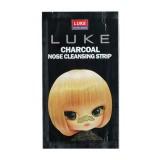 Полоска от черных точек с древесным углем Luke Charcoal Nose Cleansing Strip