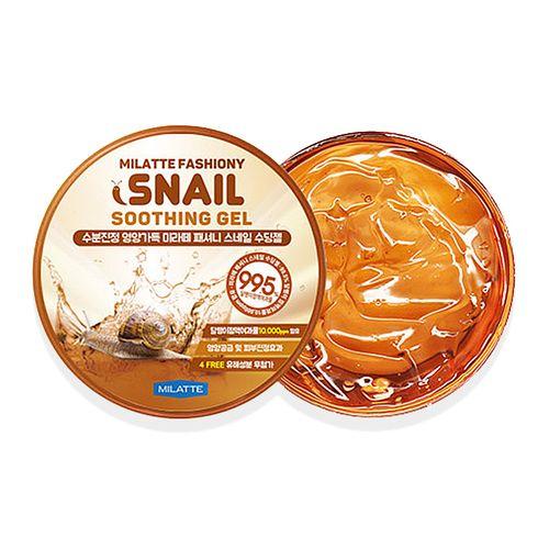 Универсальный гель с муцином улитки Milatte Fashiony 100% Snail Soothing Gel