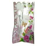Подарочный пакет с прозрачным окном 15 x 30 см - бабочка и цветы