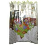 Подарочный пакет с прозрачным окном 25 x 40 см - тюльпаны