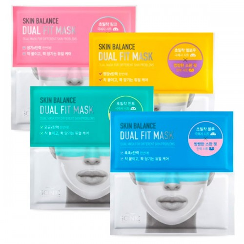 Двухфазная маска-салфетка для лица Scinic Skin Balance Dual Fit Mask
