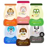 Маска-салфетка для лица в виде зверюшек Soomon Ampoule Juice Animal Mask