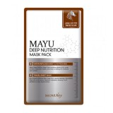 Восстанавливающая маска-салфетка но основе лошадинного жира Secret Key MAYU Deep Nutrition Mask Pack
