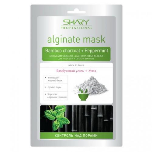 Купить Альгинатная маска с бамбуковым углем и мятой Shary