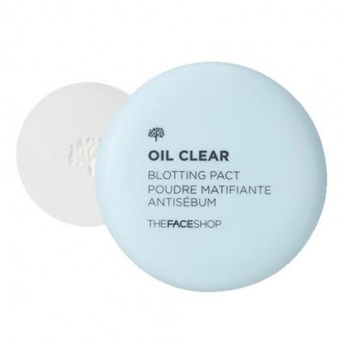 Компактная прозрачная пудра против жирного блеска The Face Shop Oil Clear Blotting Pact