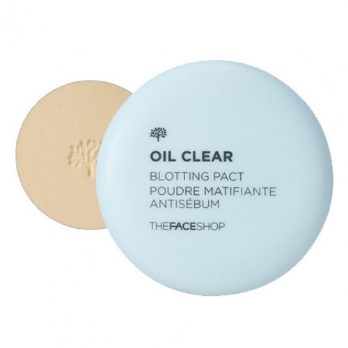 Компактная пудра для гладкости и сияния кожи The Face Shop Oil Clear Smooth & Bright Pact SPF30 PA++