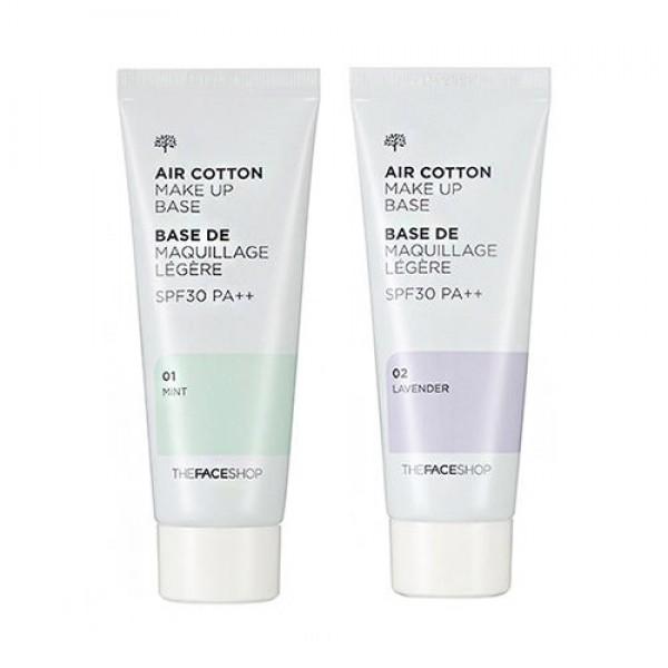 База под макияж для жирной и проблемной кожи The Face Shop Air Cotton Makeup Base SPF30/PA++