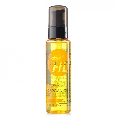 Восстанавливающее масло для волос с аргановым маслом Tony Moly Make HD Silk Argan Oil
